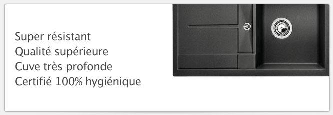 Evier Blancometra 45S Anthracite parfait pour les cuisines de petites dimensions