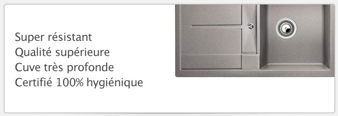 Evier Blancometra 45S Alumetallic parfait pour les petites cuisines