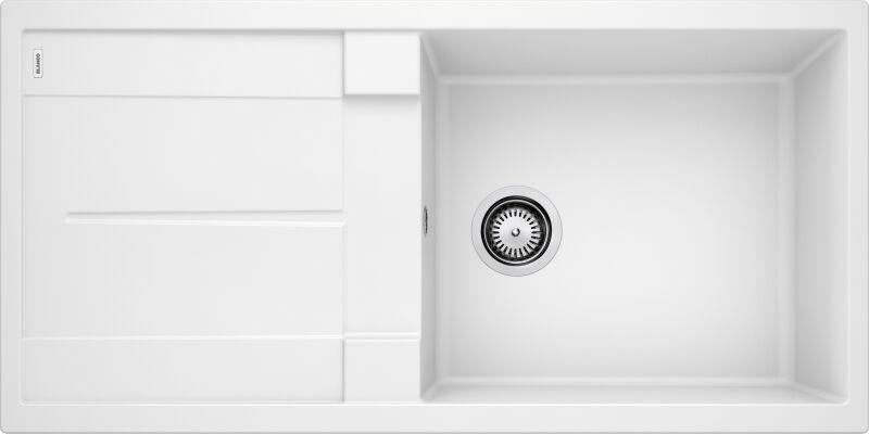 evier blancometra xl 6s blanc avec vidage manuel mon. Black Bedroom Furniture Sets. Home Design Ideas