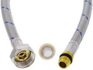 Flexible d'alimentation HP bleu avec joint/tamis 90 cm M10x1 BL (NF)