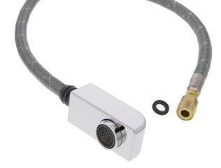 Douchette ZENOS-S HP chromé cpl. + tuyau, surface métallique, chromé, Haute pression