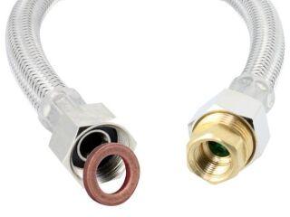 Flexible d'alimentation vert a régulateur de débit avec joint 41 cm