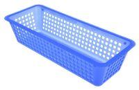 Panier SELECT DIRECT 30/2 plastiqué PP bleu, plastique, blau