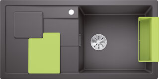 EVIER BLANCO SITY XL 6S PDUR GRIS ROCHER / KIWI INF MA&SIP