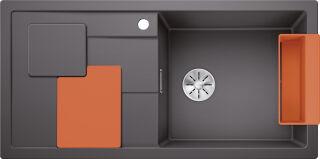 EVIER BLANCO SITY XL 6S PDUR GRIS ROCHER / ORANGE INF MA&SIP