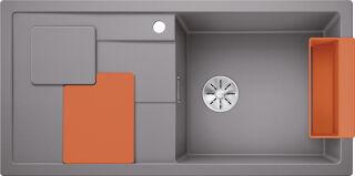 EVIER BLANCO SITY XL 6S PDUR ALUMETALLIC / ORANGE INF MA&SIP