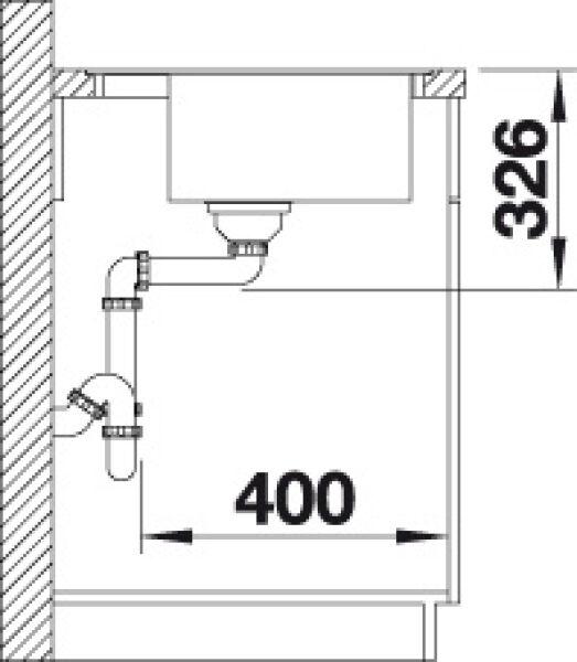 EVIER BLANCO DALAGO 8-F CAFE - Vidage Automatique - Encastrement à Fleur