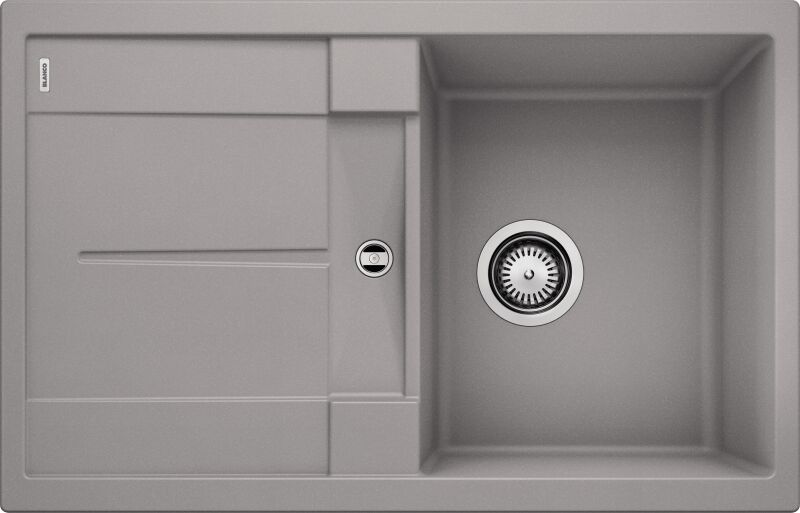 evier blancometra 45s alumetallic avec vidage manuel mon. Black Bedroom Furniture Sets. Home Design Ideas