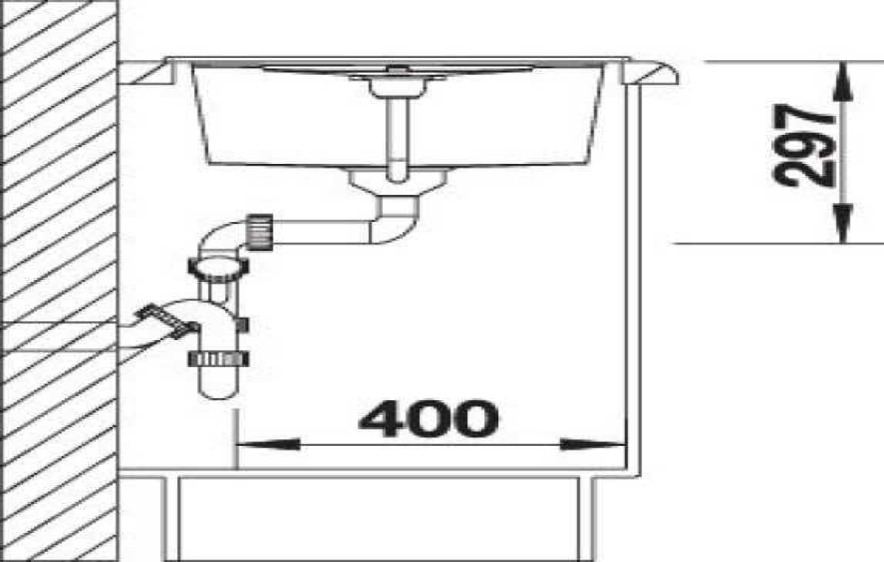 EVIER BLANCO METRA 45S CAFE - Vidage Automatique