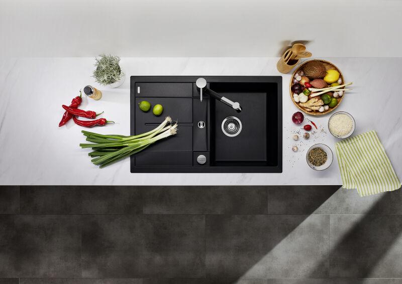 EVIER BLANCO METRA 45S JASMIN - Vidage Automatique