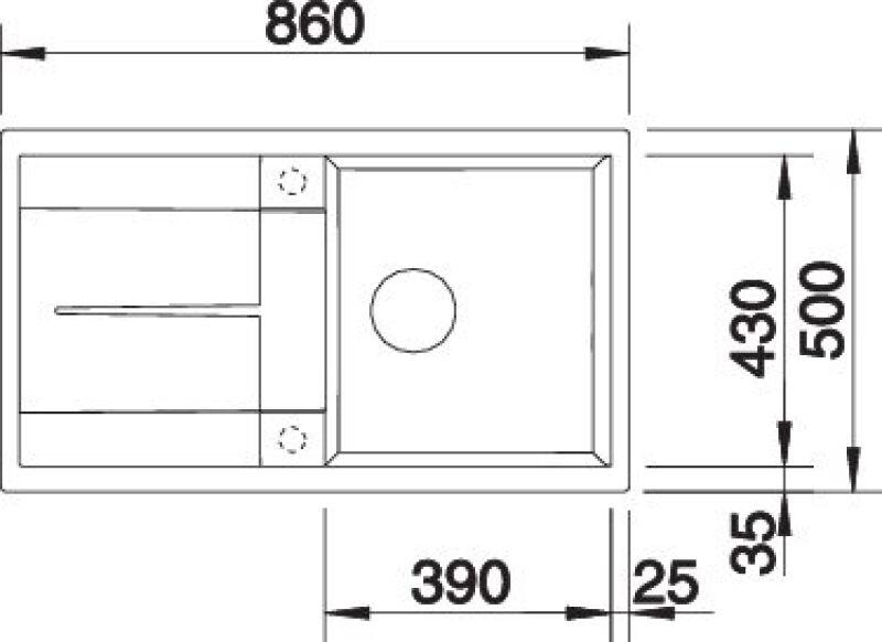 EVIER BLANCO METRA 5S ALUMETALLIC - Vidage Automatique