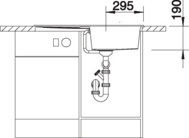 EVIER BLANCO METRA 5S CAFE - Vidage Automatique