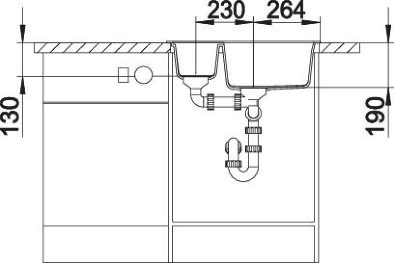 EVIER BLANCO METRA 6 ALUMETALLIC - Vidage Automatique