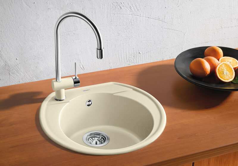 Evier Blanco rondoval 45 pdur2 anthracite