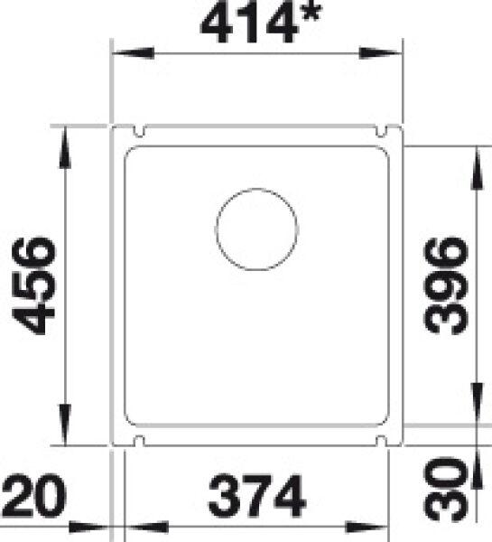 EVIER BLANCO SUBLINE 375 U CERAMIQUE BLANC CRISTAL