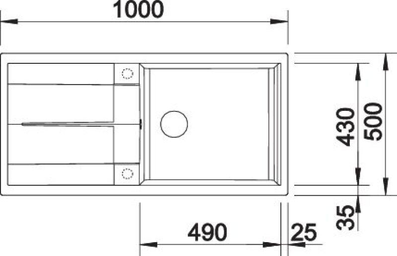 EVIER BLANCO METRA XL 6S TARTUFO - Vidage Automatique