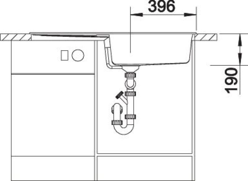 EVIER BLANCO METRA XL 6S BLANC - Vidage Automatique