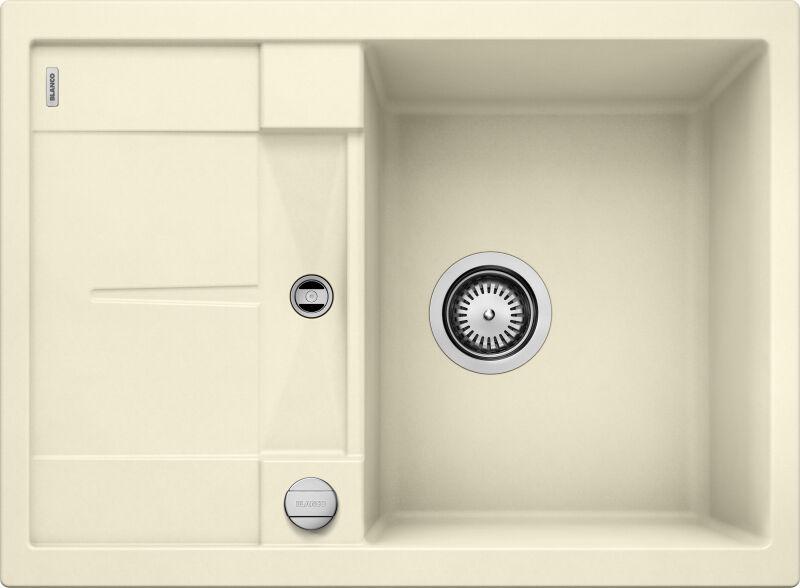 eviers encastrer evier blancometra 45s granit jasmin achat vente blanco 519577. Black Bedroom Furniture Sets. Home Design Ideas