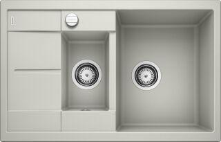 EVIER BLANCO METRA 6S COMPACT GRIS PERLE - Vidage Automatique