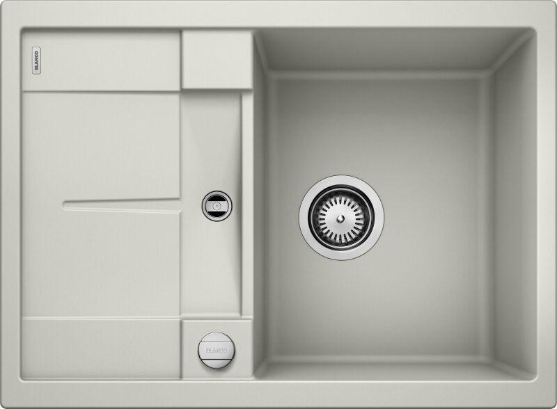 eviers encastrer blancometra 45s granit gris perle. Black Bedroom Furniture Sets. Home Design Ideas