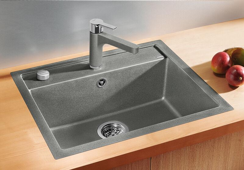 EVIER BLANCO DALAGO 6-F ANTHRACITE - Vidage Automatique - Encastrement à Fleur