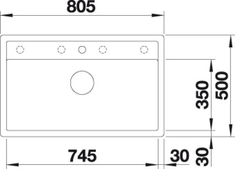 EVIER BLANCO DALAGO 8-F ANTHRACITE - Vidage Automatique - Encastrement à Fleur