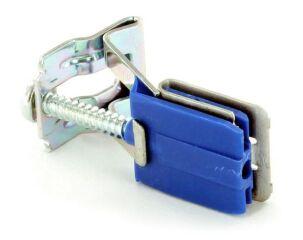 Patte de fixation 2 faire une halte 28-40 automatique ZUS7361Dsous-montage - socle plastique bleu avec clip - 1. réglable pour plans de travail de 34-40 mm, 2. réglable pour plans de travail de 28-34 mm (patte de fixation 1. pré-assemblé) - pour éviers en