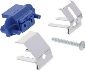 Pattes de fixation préhenseur en-dessous set 6 pièce NGsous-montage - socle plastique bleu avec clip