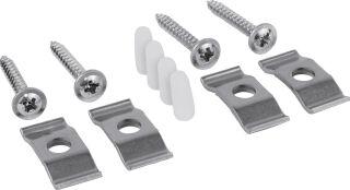 Set de fixation pour cuves à intégrer céramique (4x)cheville avec vis - lot de 4 - à sous-monter - p