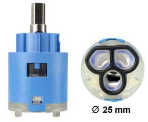 Cartouche Ø= 25 mm VONDA KI, bleu, Haute pression